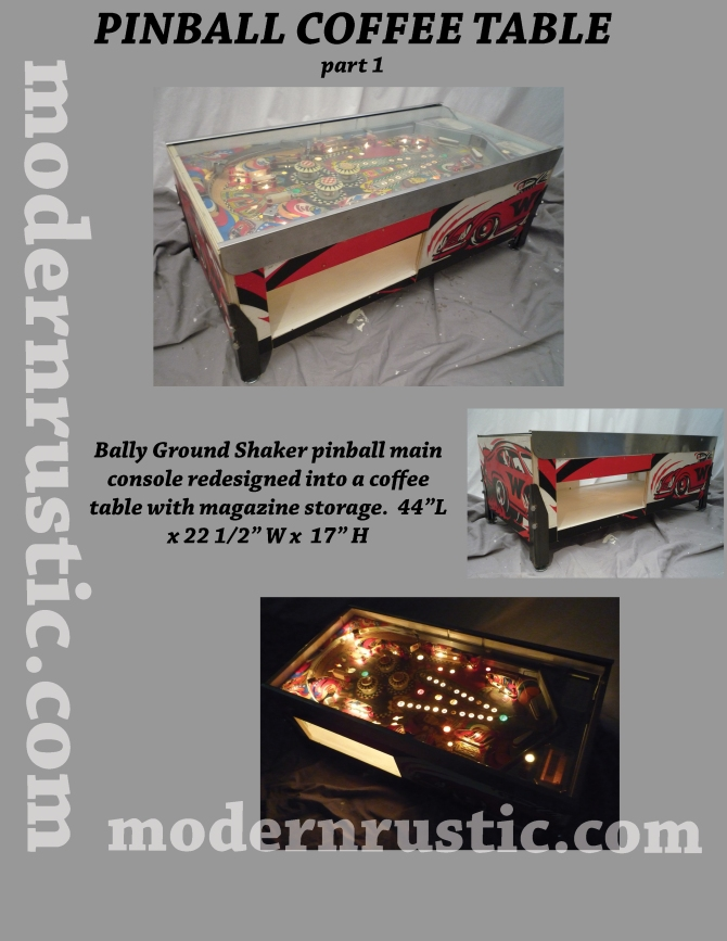 PINBALL COFFEE TABLE part 1