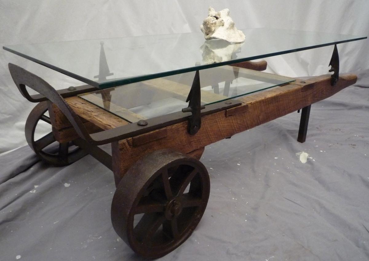 Vintage Hand Truck Coffee Table Modern Rustic