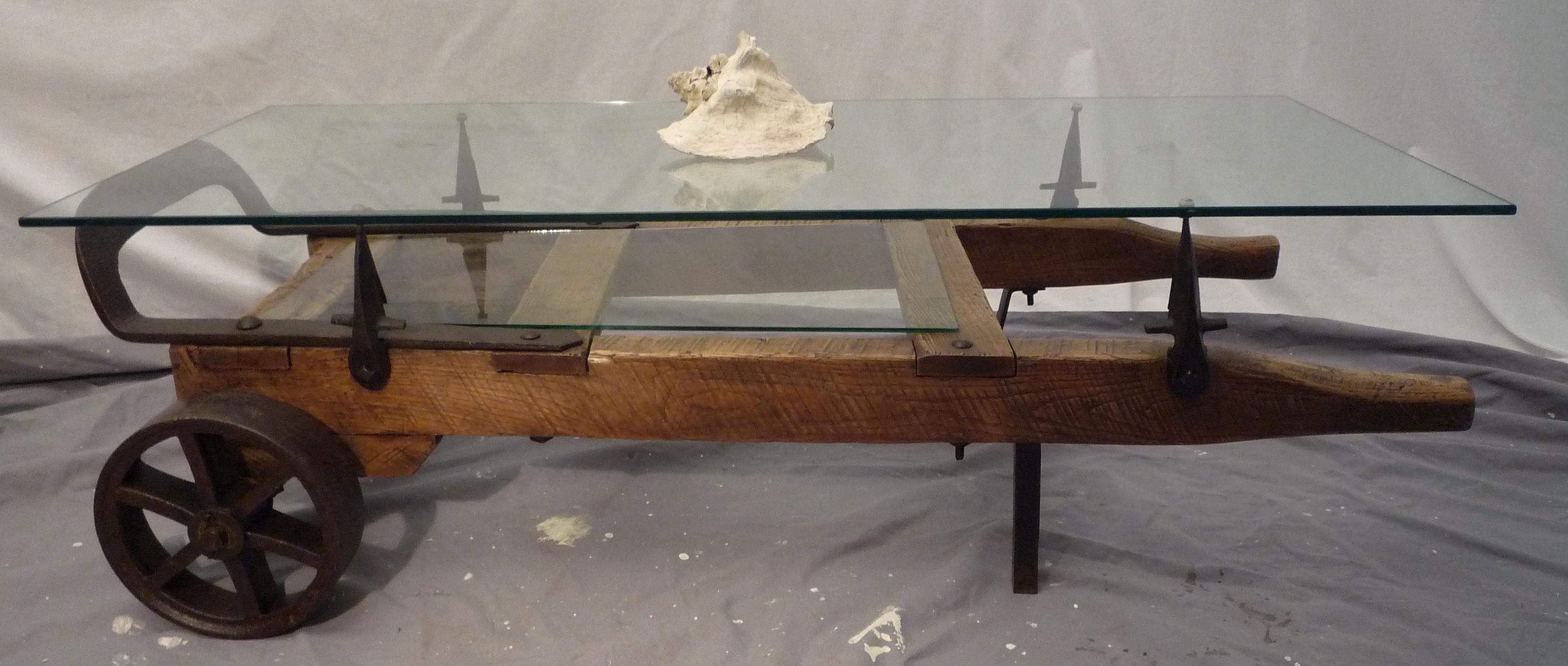 Hand Truck Coffee Table Modern Rustic