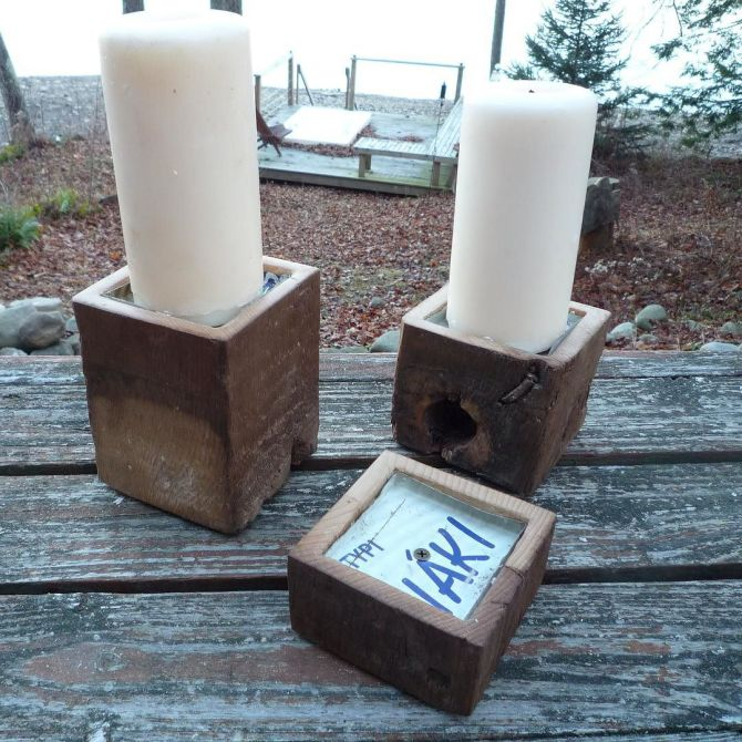 Historic Pillar Candle Holders (Limited sets available).