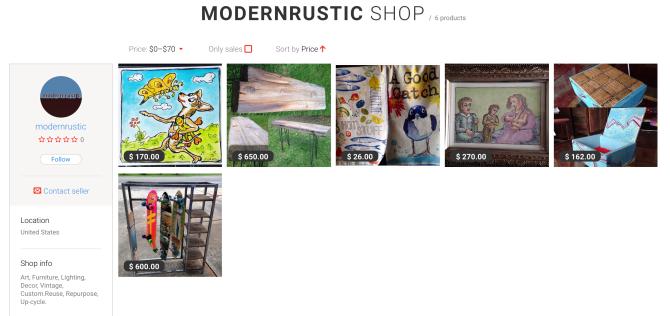Modern Rustic e-store